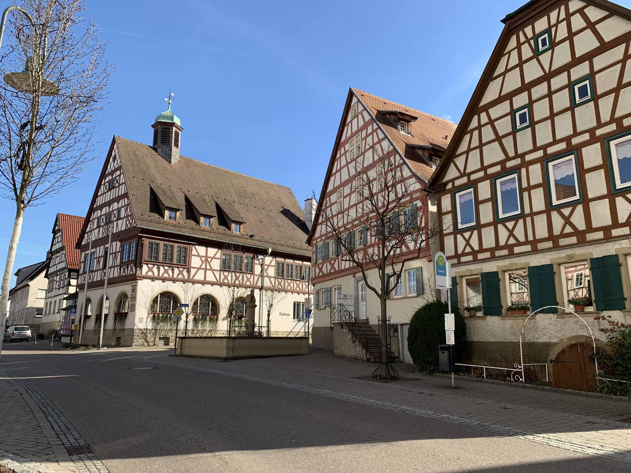 Rathaus, Zentrum, Fachwerk